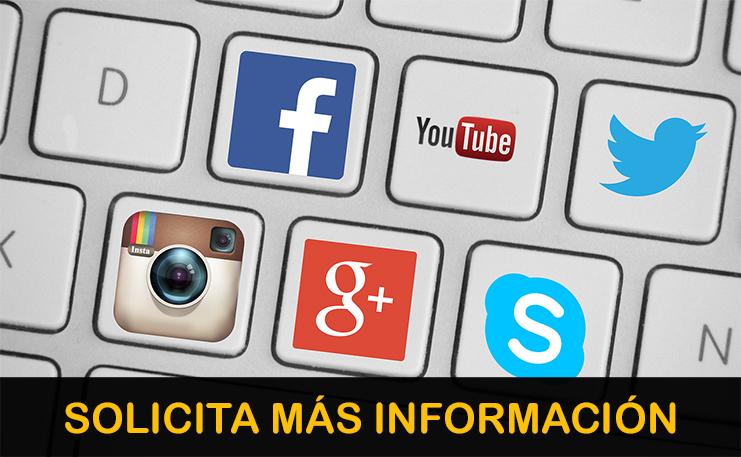 Solicita información sobre la gestión de redes sociales.