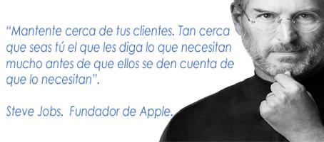 Frase célebre de Steve Jobs.