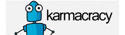 Herramienta de publicación en redes sociales Karmacracy.