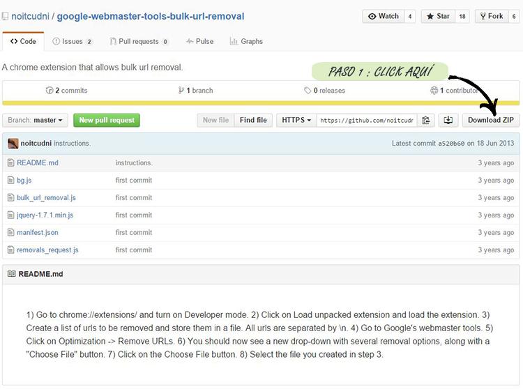 Paso 1º: Descargar extensión para Google Chrome.
