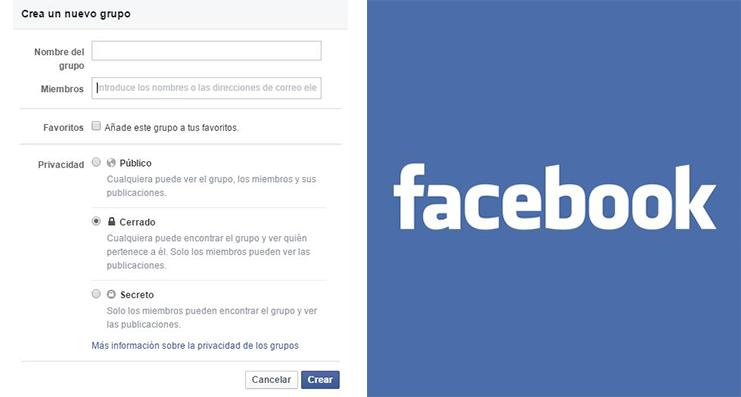 Tipos de grupos en Facebook.