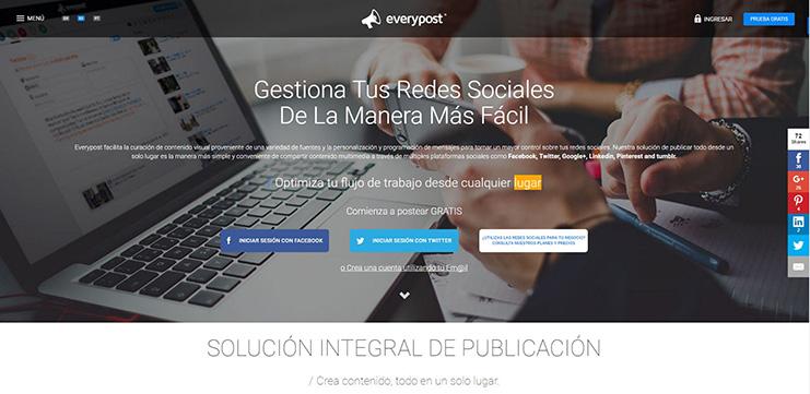 Everypost: Herramienta ideal para gestionar tus redes sociales.