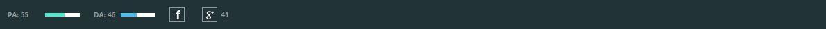 Barra en navegador de la herramienta Mozbar.