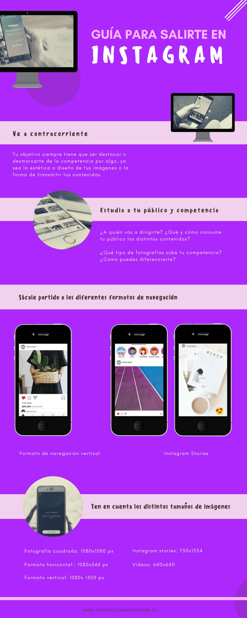 Infografía para saber cómo triunfar en Instagram