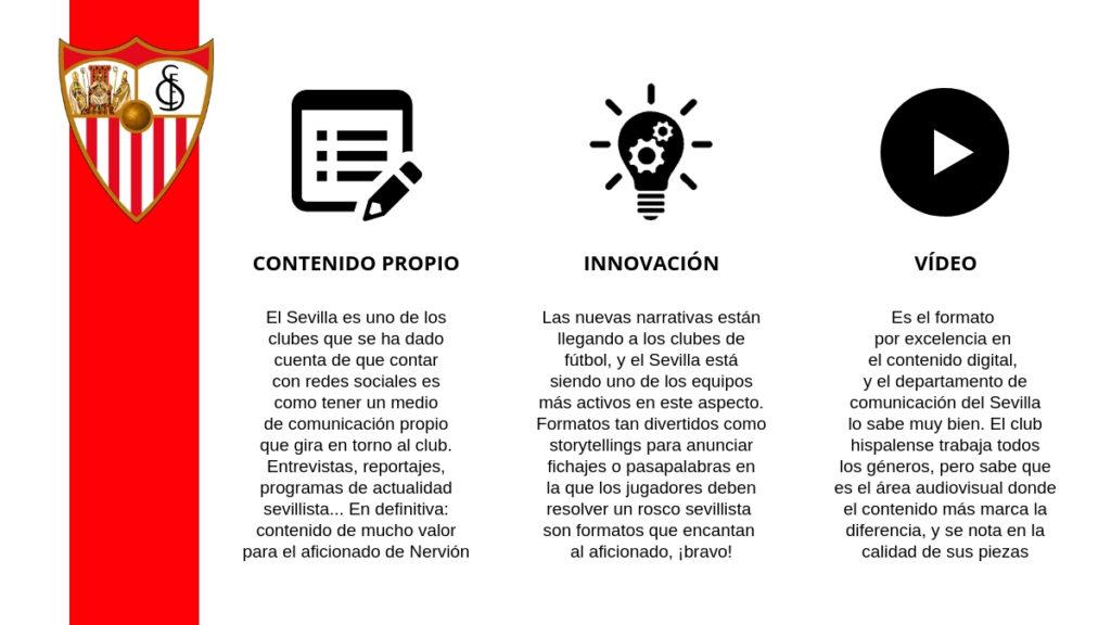 El departamento de comunicación y gestión de redes sociales del Sevilla realiza un gran trabajo en todos los aspectos.