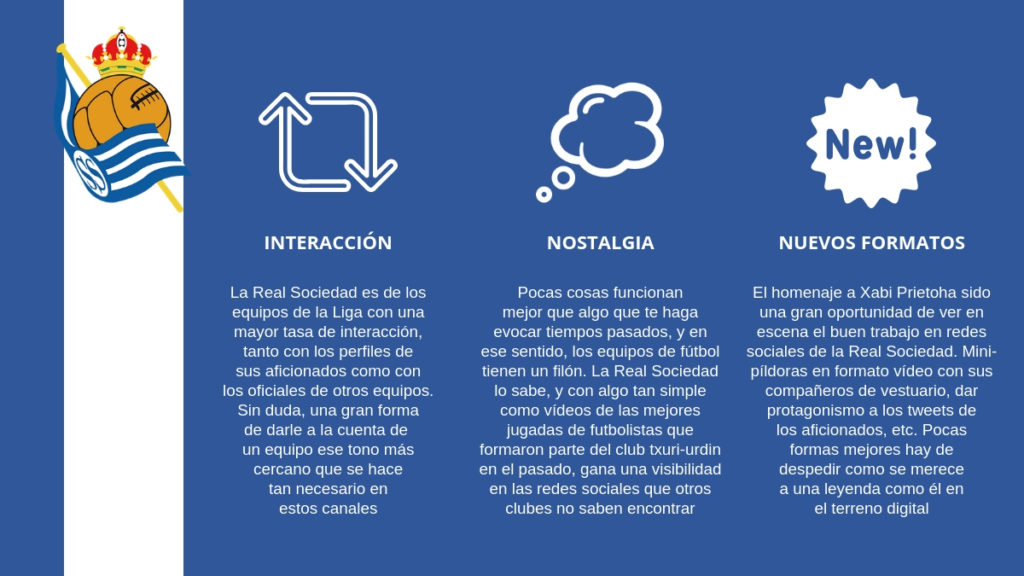 La Real sociedad posee una estrategia de redes sociales que invita mucho a la interacción de los usuarios.