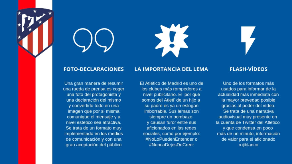 Las redes sociales del Atlético de Madrid suelen hacerse virales.