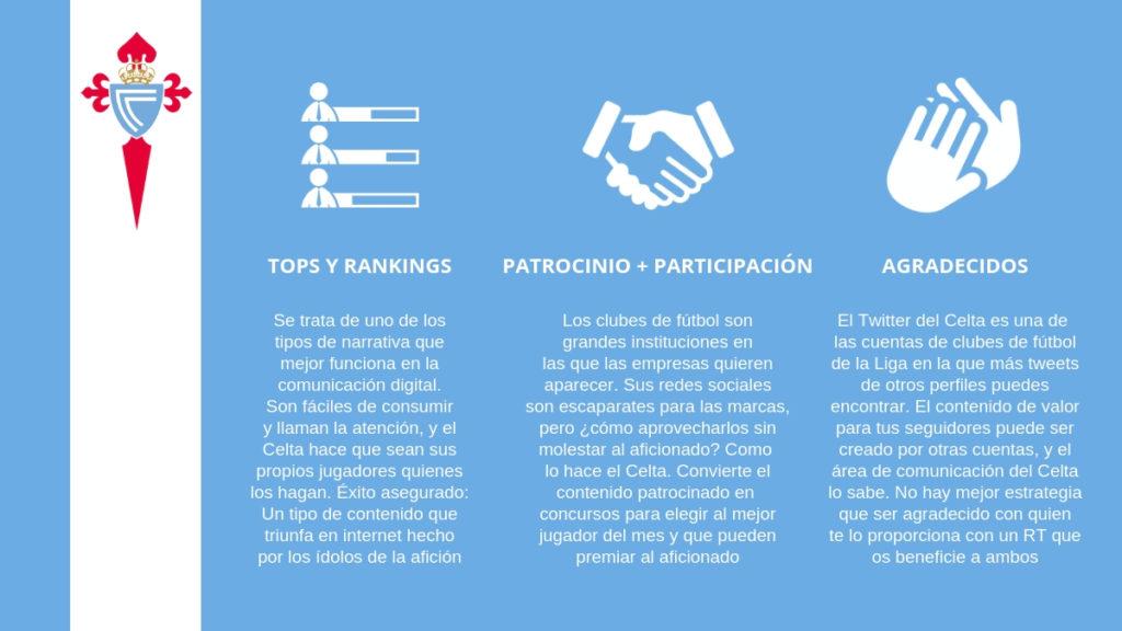 El Celta de Vigo realiza una interesante gestión de sus redes sociales.
