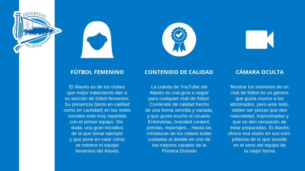 El Alavés es uno de los equipos de Primera especialista en la creación de vídeos para redes sociales