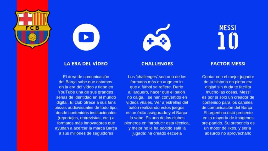 En el terreno digital, el Fc Barcelona siempre fue pionero en el uso del vídeo en sus redes sociales.