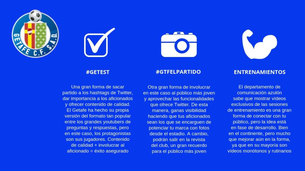 Las redes sociales del Getafe se encuentran en una fase bastante inicial.