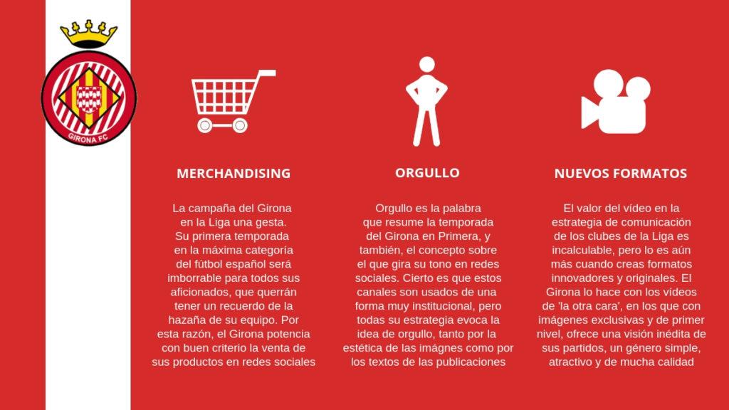 Pese a ser un club que lleva en la élite pocos años, la gestión de redes sociales del Girona es muy interesante.