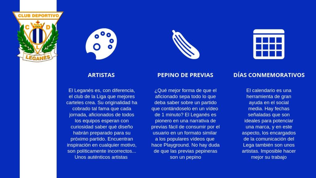 El Leganés es el equipo de la Liga que destaca en el diseño de carteles pre-partidos que publican en sus redes sociales.